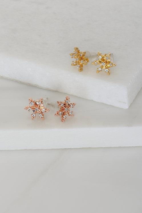Crystal Snowflake Earings