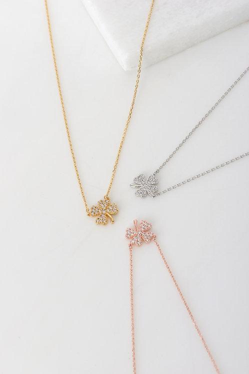 Shamrock Clover Leaf Necklace