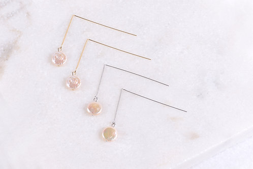 Pearl Love Threader Earrings Wholesale