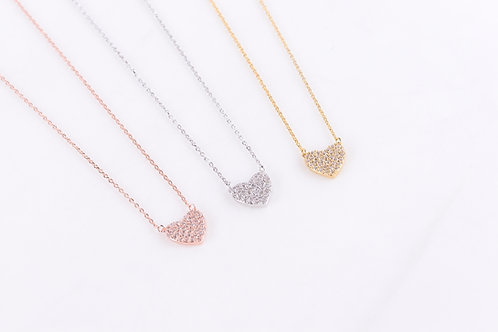 Crysta Heart Necklace