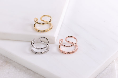 Lily Double Layered Ring Wholesale