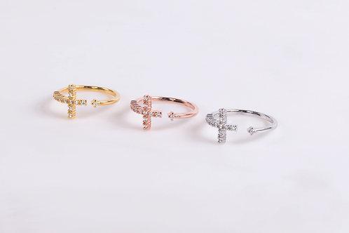 Crystal Cross Ring Wholesale