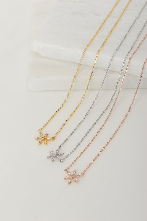 Crystal Snowflake Necklace Wholesale