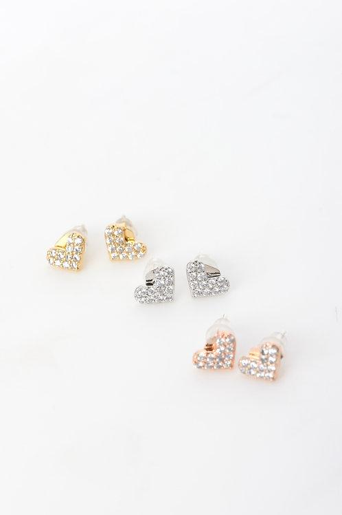 Crystal Heart Earings