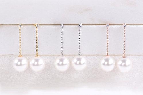 Michelle Dangled Pearl Earrings Wholesale