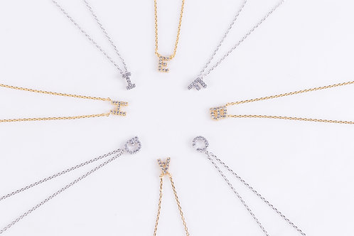 Crystal Initials Necklaces