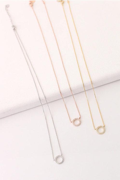 Kayla Circle Necklace Wholesale