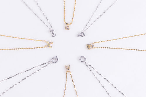 Crystal Initial Necklaces