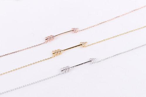 Crystal Arrow Necklace