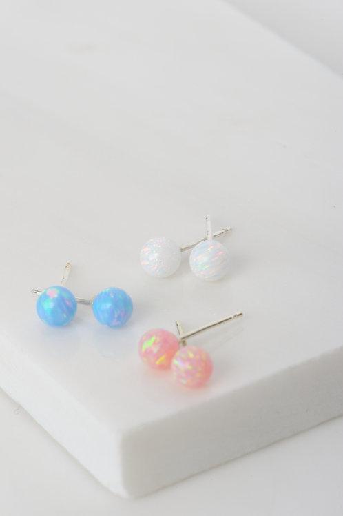 Star-Drop Opal Earrings