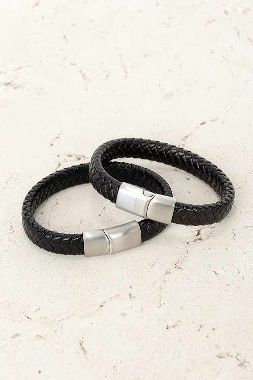 Thick Leather Bracelet