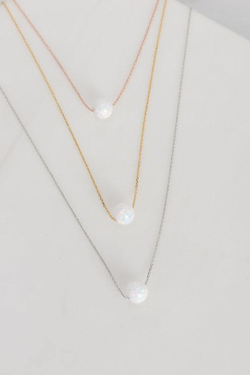 Star-Drop Opal Necklace