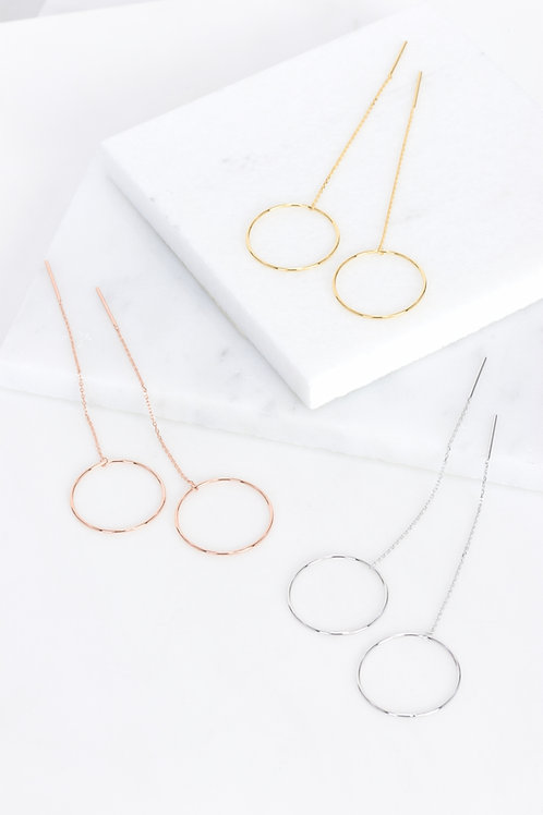 Circle Hole Earrings