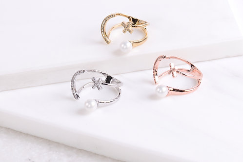 Smiley Pearl Ring Wholesale