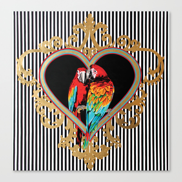 love-parrots-canvas
