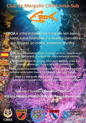 Cartel Informativo de CROA Foto-Sub