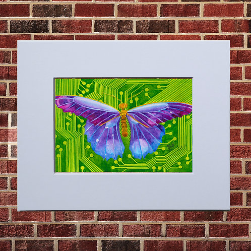 Electronic Butterfly Print