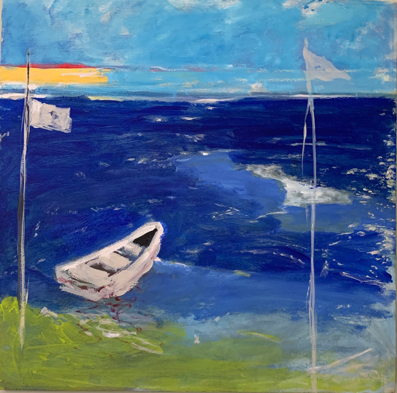 Sea 2 24 x 24 Inches  Oil on canvas 2020 SOLD