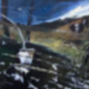 Amid pale green milkweed 2018 30x30 inch