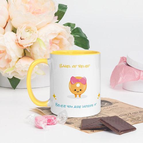 Bagel of Belief - Believe you are worth it Mug
