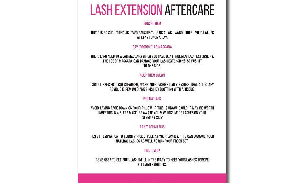 Lash Aftercare