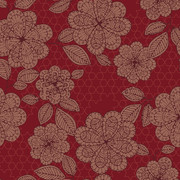 RF5500145 ANCIENT FLOWER RED