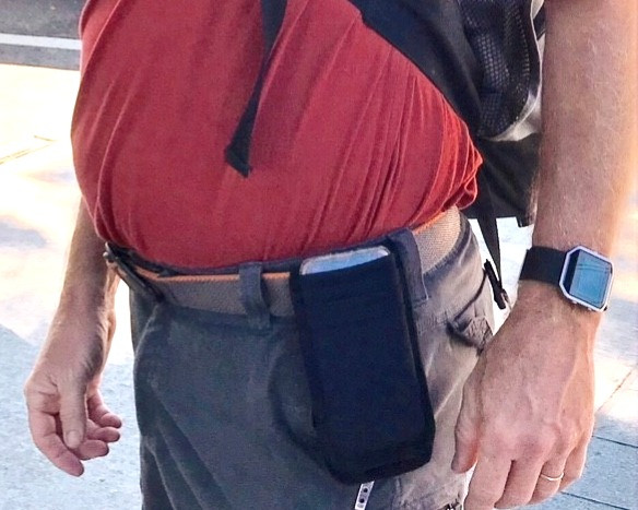 Mike is Wearing MyPhonePouch Tucked Over His Belt