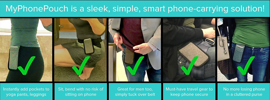 Wear MyPhonePouch with many different ou