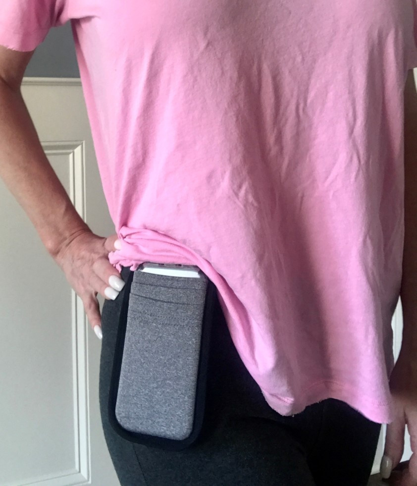 Carrying your cell phone hands-free accessible with MyPhonePouch