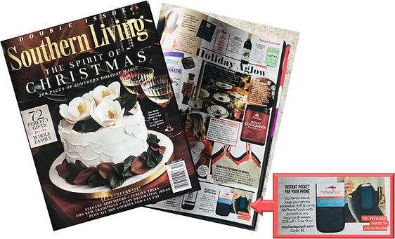 Southern Living Magazine with MyPhonePouch