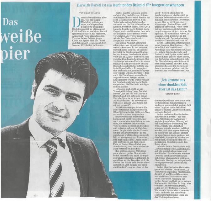Unser Vorsitzender Darwish in der Zeitung