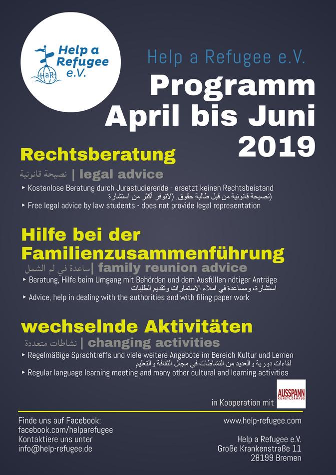 Unser Programm April bis Juni 2019