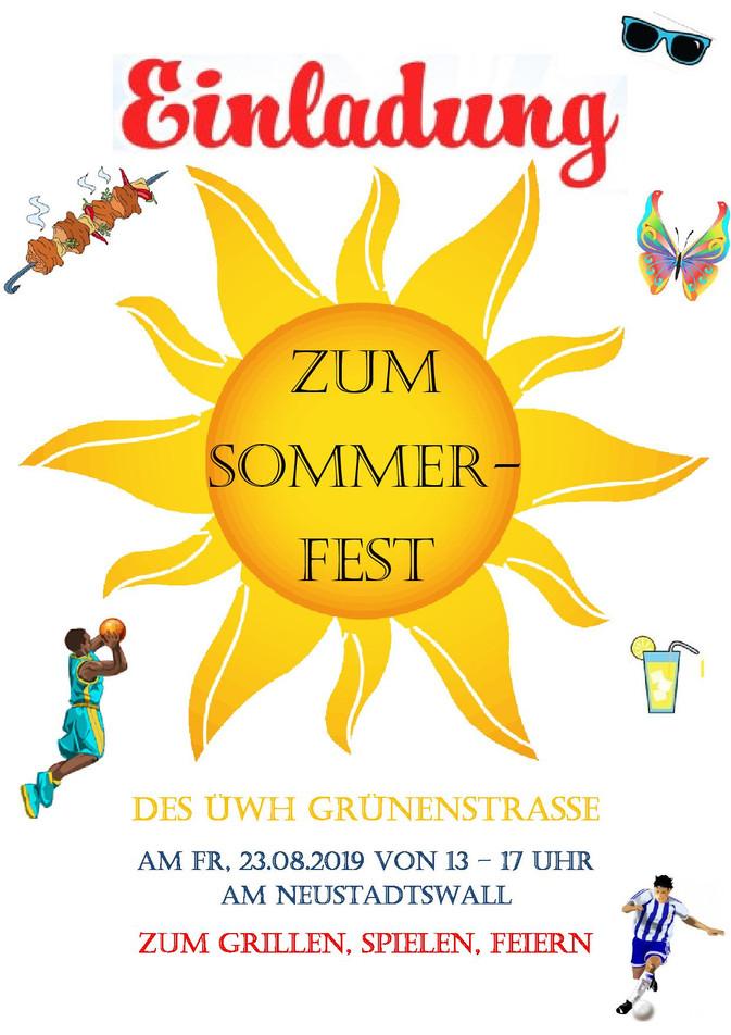 Sommerfeste ÜWH Faulen- und Grünenstraße