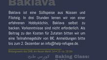 Backlava-Backkurs: Anmeldungen werden angenommen