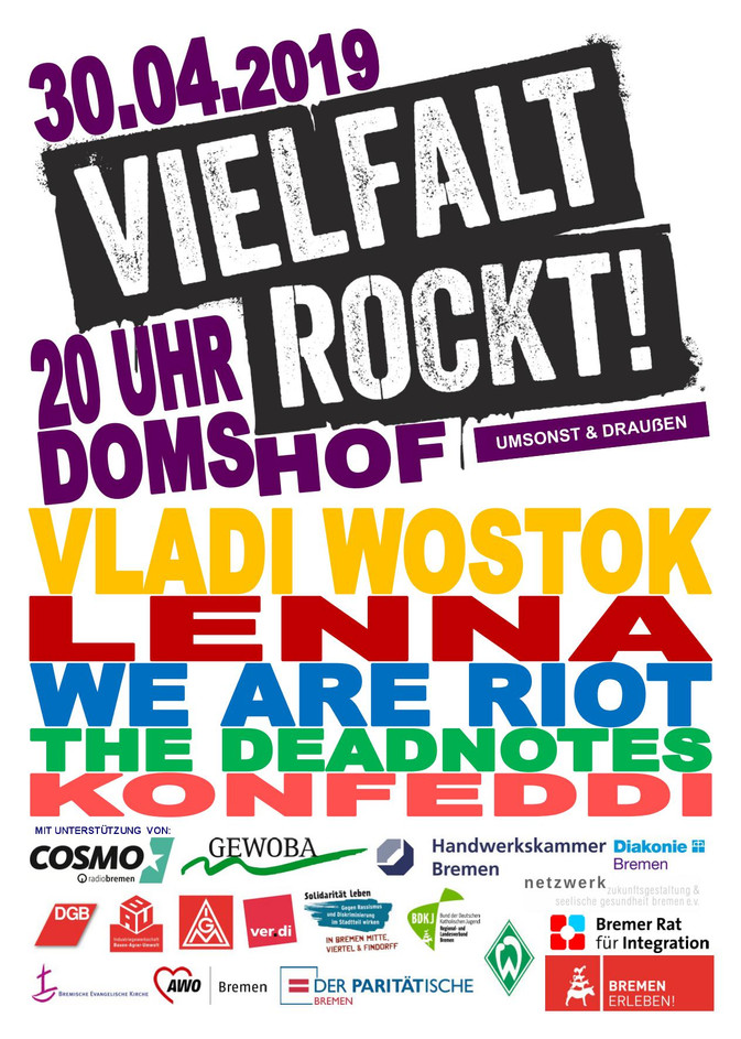 Vielfalt rockt am 30. April