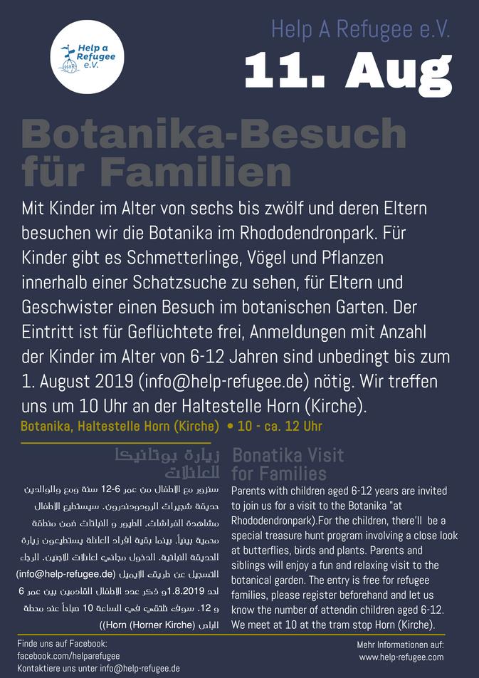 Neuer Termin: Botanika-Ausflug für Familien