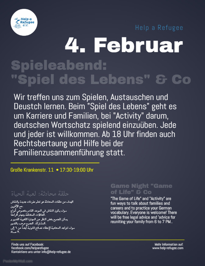 4. Februar: Spieleabend