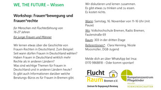 WE, THE FUTURE Workshops