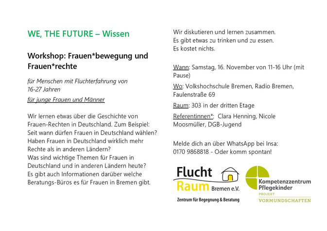 WE, THE FUTURE Workshops