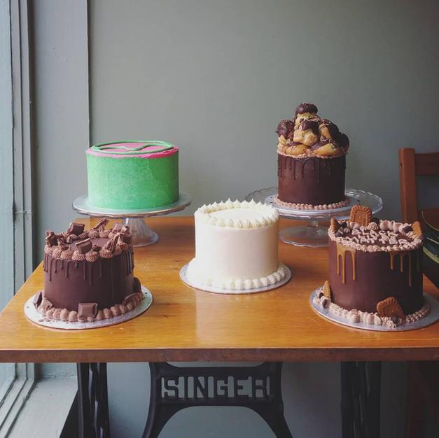 Cakes that Mel makes.