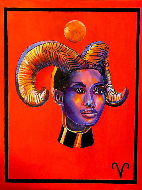 Aries the Ram Art Print