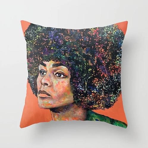 Angela Davis Throw Pillow