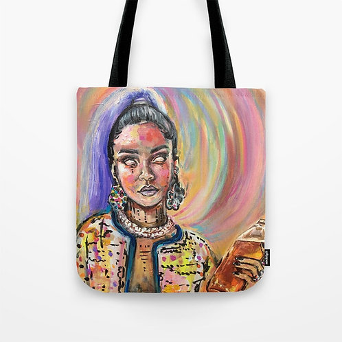 Wood Mag Tote Bag