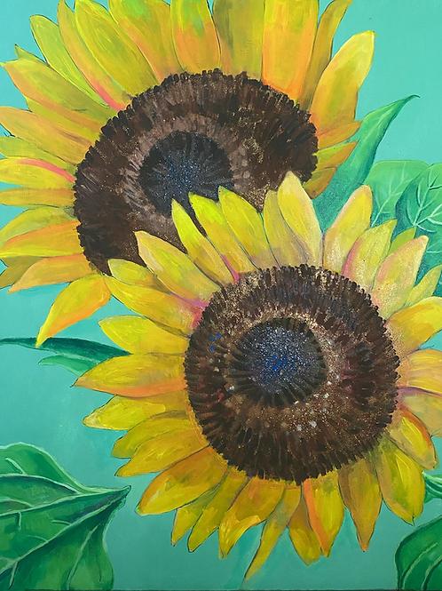 Sunflowers I 22 x 28 Original