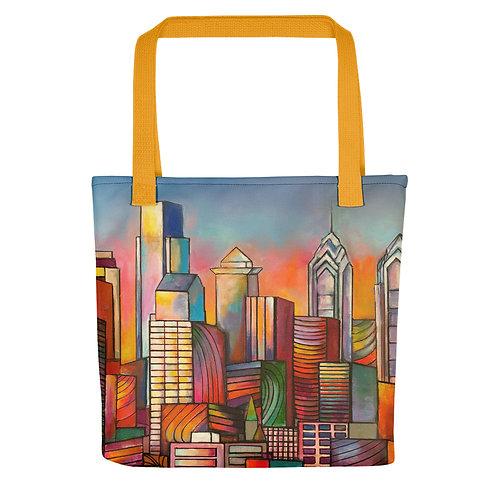 Golden Philadelphia Tote Bag