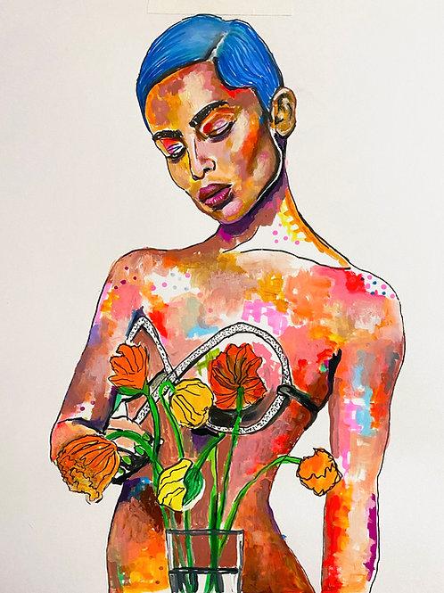 Zoe Kravitz Art Print