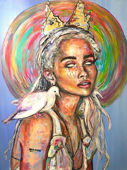 Saint Zoe Art Print