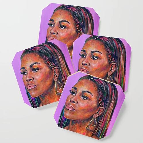 Michelle Obama Coasters