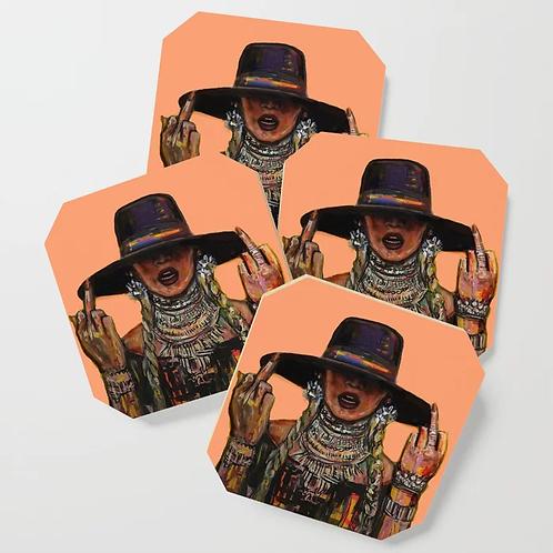 Gracious Peach Coasters