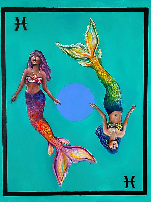 Pisces the Mermaids Art Print